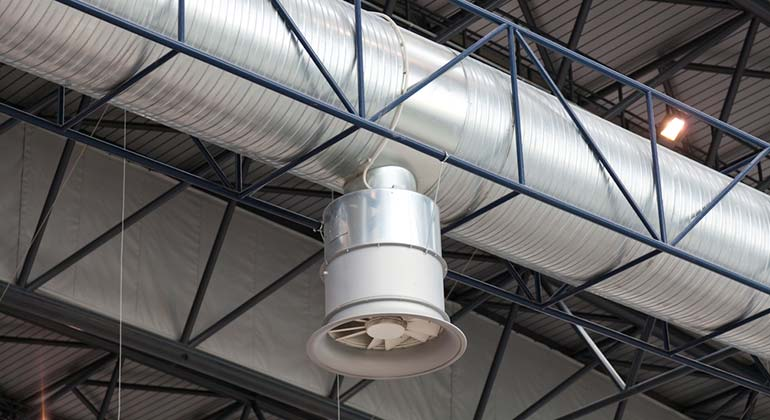 Industrial Cooling Duct : Duct work installation air replacement and repair